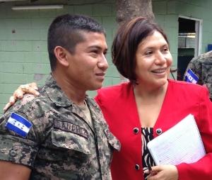 Mario with Elementary School program Director Claudia Castro